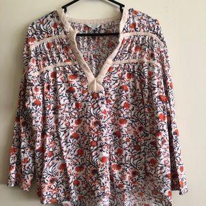 NWOT Lucky Brand 🍀Long Sleeve Blouse